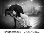 amazing first wedding dance in... | Shutterstock . vector #772140562
