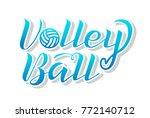 volleyball blue gradient... | Shutterstock .eps vector #772140712