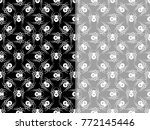 spider seamless pattern cross | Shutterstock .eps vector #772145446