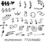 doodle vector arrows. isolated. ... | Shutterstock .eps vector #772146682