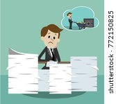 business man working and... | Shutterstock .eps vector #772150825