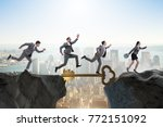 concept with key to success... | Shutterstock . vector #772151092