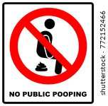 no public pooping symbol. do... | Shutterstock .eps vector #772152466