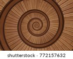 brown red real walnut wooden... | Shutterstock . vector #772157632