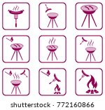 set of barbecue icons. vector... | Shutterstock .eps vector #772160866