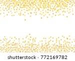 scattered gold star shape... | Shutterstock . vector #772169782