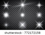 glowing lights effect  flare ...   Shutterstock .eps vector #772172158