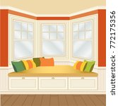 classic room interior with... | Shutterstock .eps vector #772175356