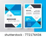 business flyer blue color... | Shutterstock .eps vector #772176436