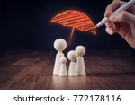 family life and property... | Shutterstock . vector #772178116