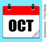 october calendar icon.vector...