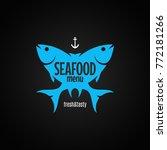 fish logo. seafood menu on...   Shutterstock .eps vector #772181266