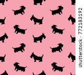 seamless pattern with black...   Shutterstock . vector #772183192