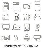 household appliances or... | Shutterstock .eps vector #772187665