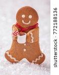 funny gingerbread cookie men... | Shutterstock . vector #772188136