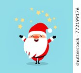 santa claus wishes merry... | Shutterstock .eps vector #772199176