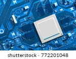 electronic circuit board close... | Shutterstock . vector #772201048