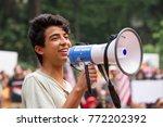 a dreamer activist speaks at a... | Shutterstock . vector #772202392