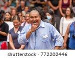 juan rogel  activist for... | Shutterstock . vector #772202446