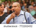 juan rogel  activist for... | Shutterstock . vector #772202452