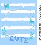 cute children's frame vector... | Shutterstock .eps vector #772204228