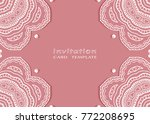 invitation or card template... | Shutterstock .eps vector #772208695