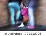 a teenage girl being bullied by ...   Shutterstock . vector #772210705