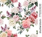 seamless floral pattern with... | Shutterstock .eps vector #772213132