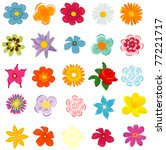 colorful spring flowers vector... | Shutterstock .eps vector #77221717