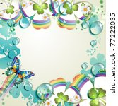 clover with drops of water over ...   Shutterstock .eps vector #77222035