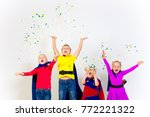 superheroes kids friends | Shutterstock . vector #772221322