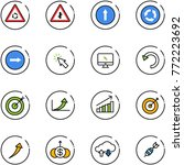 line vector icon set   round... | Shutterstock .eps vector #772223692