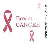 breast cancer ribbon. vector... | Shutterstock .eps vector #772223845