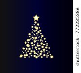 christmas tree with stars | Shutterstock .eps vector #772235386