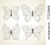 set of butterflies | Shutterstock .eps vector #77223868