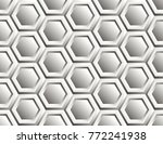 seamless pattern of hexagons | Shutterstock .eps vector #772241938