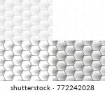 seamless pattern of hexagons | Shutterstock .eps vector #772242028
