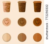 coffee cups in the style of... | Shutterstock .eps vector #772250332