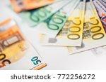 euro money. euro cash... | Shutterstock . vector #772256272