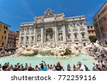 rome  italy   june 23  2017 ...   Shutterstock . vector #772259116