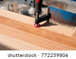 clamped pieces of wood with c... | Shutterstock . vector #772259806