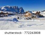 winter panorama of italian ski... | Shutterstock . vector #772263808