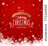 'merry christmas' with lots of... | Shutterstock .eps vector #772264045