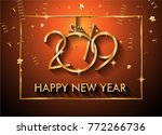 2019 happy new year background... | Shutterstock .eps vector #772266736