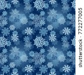 abstract seamless snowflakes... | Shutterstock .eps vector #772277005