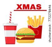 fast food set for christmas.... | Shutterstock .eps vector #772278646