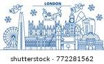 great britain  london winter... | Shutterstock .eps vector #772281562