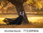 exquisite lady in a vintage... | Shutterstock . vector #772289806