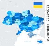 ukraine map and flag   high... | Shutterstock .eps vector #772290736