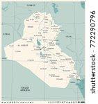iraq map  vintage high detailed ... | Shutterstock .eps vector #772290796